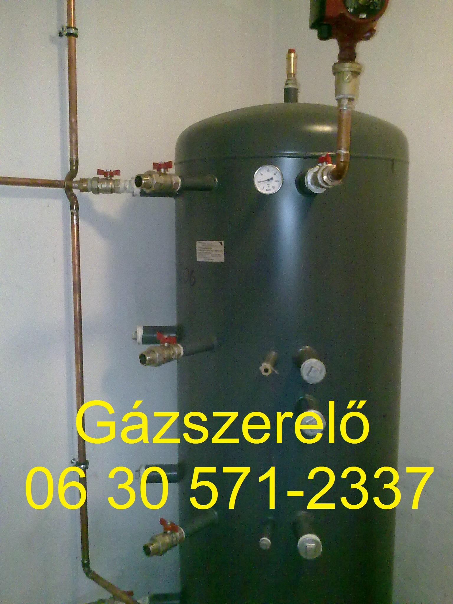 Gázszerelő Budapest - puffertartály szerelése
