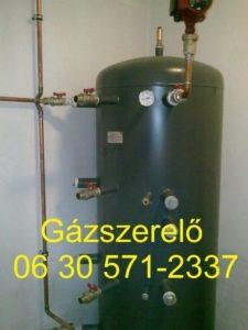 Gázszerelő Kispest - puffertartály bekötés