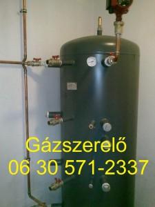 Gázszerelő - puffertartály bekötés