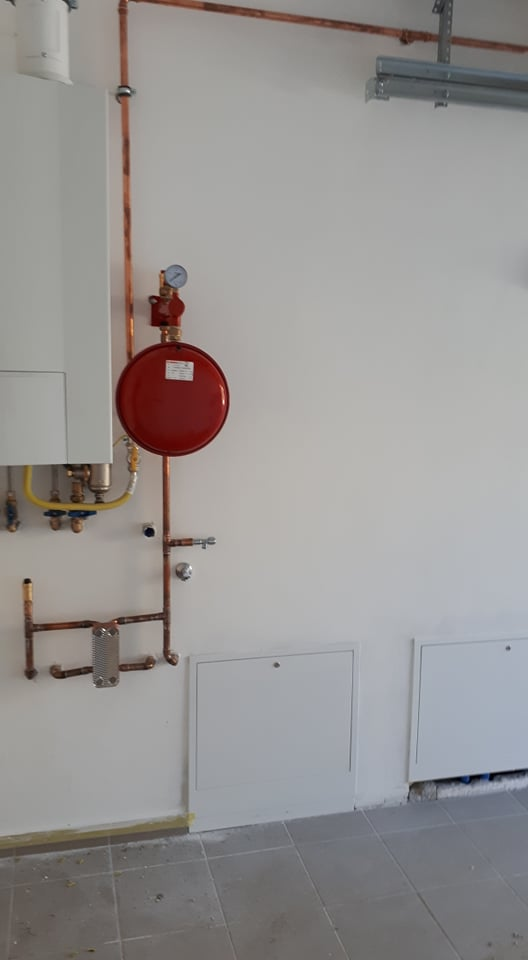 kondenzációs kazán felszerelése